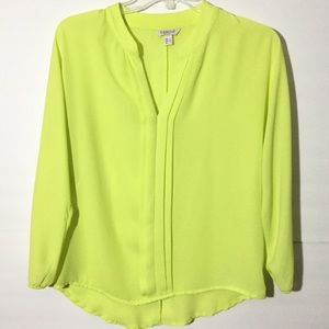 Neon Yellow long sleeve shirt